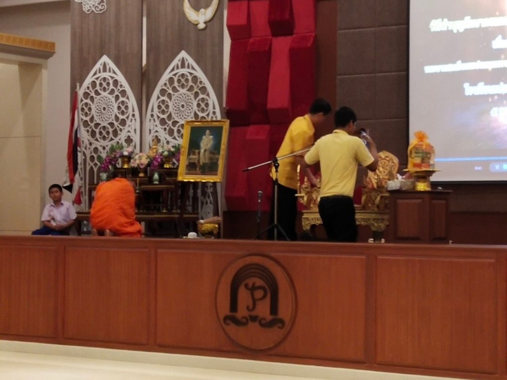 Offering alms to monks And cast a candle in the rainy season Academic Year 2019