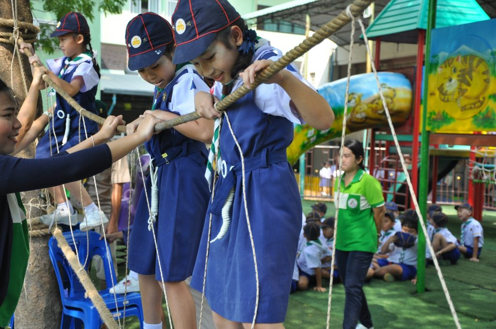 Saturday 28 September 2019 Scout Camp Day Camp for Prathom 1-3 students.
