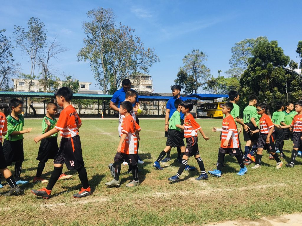 football match at the football stadium of Narathorn School